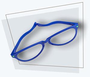 Fotobox Accessoires Brille blau