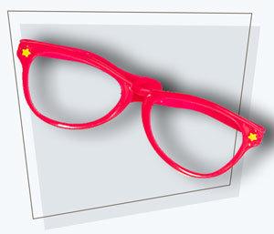 Fotobox Accessoires Brille pink