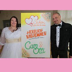 Die Fotobox auf der Hochzeit von Caro und Olli