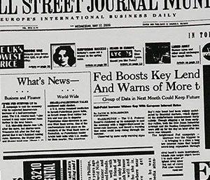Fotobox Hintergrund Zeitung