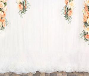 Fotobox-Hintergrund-Blumenvorhang