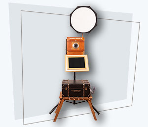 Fotobox-Vintage-mit-Drucker-Front